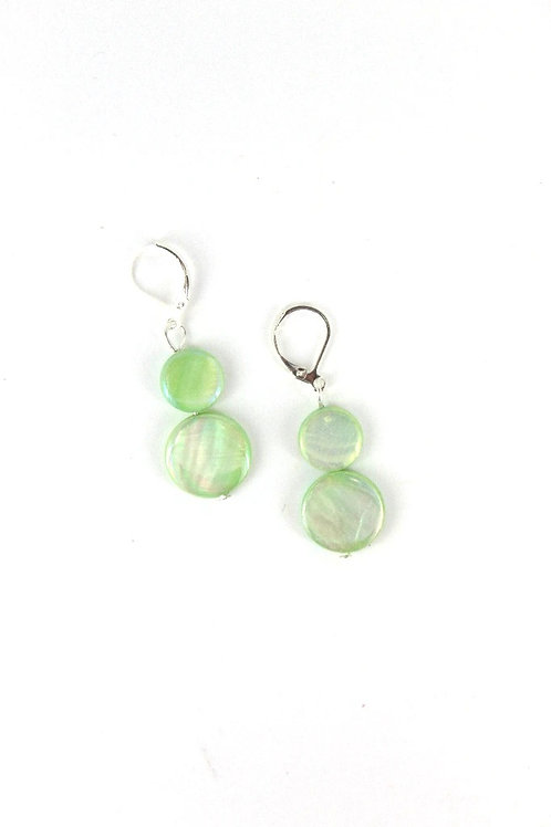 mother of pearl earring-mint