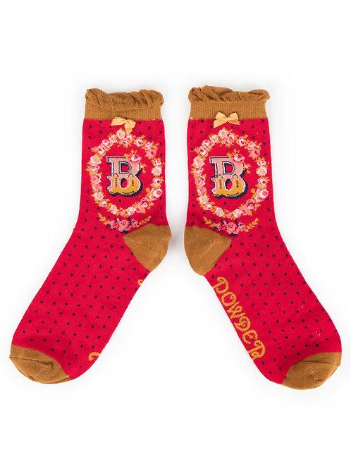 Letter B Socks
