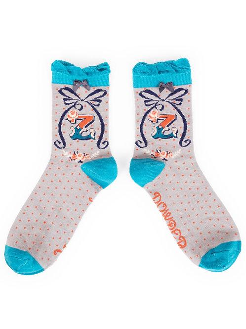 Letter Z Socks