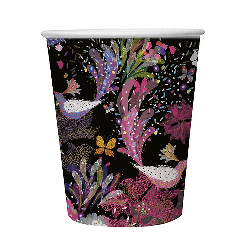 TURNOWSKY BIRDS OF PARADISE  8 X 9oz BIODEGRADABLE CUPS