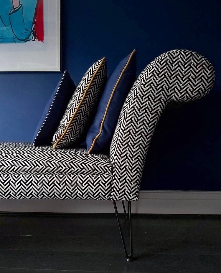 chaise with scatter cushions
