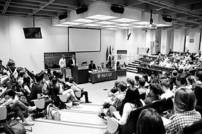 McGill students in a lecture hall