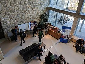 The atrium at the University of Saskatchewan