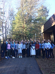 University of Victoria PBSC students standing under a tree