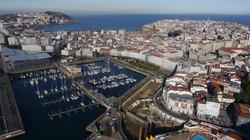Plano aéreo de Coruña