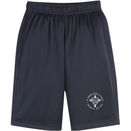 Navy shorts with logo