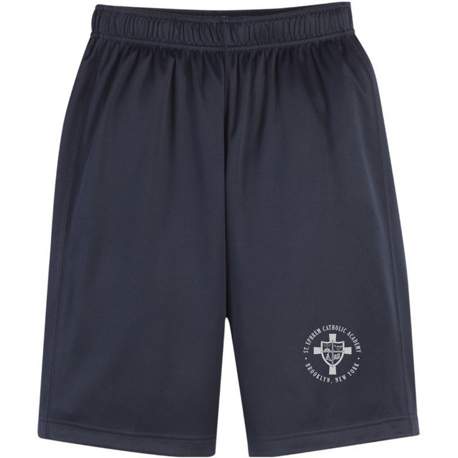 Navy shorts with logo