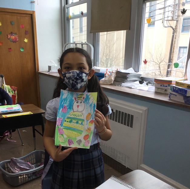 1st grade Easter art