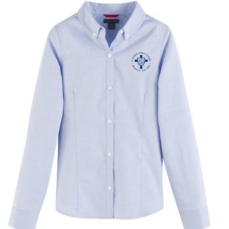 Light blue oxford shirt with logo