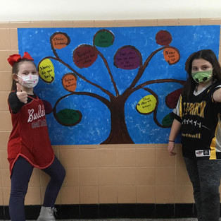 Student made mural outside the fouth grade classroom