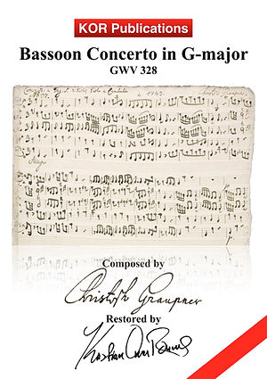 Graupner, Bassoon Concerto G-major COVER