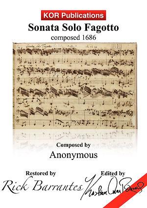 Anonym, Sonata Solo Fagotto, COVER hp.jp