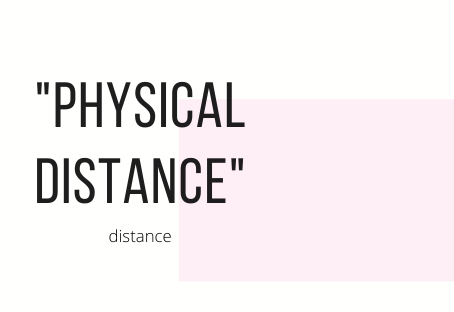 Physical distance in a relationship