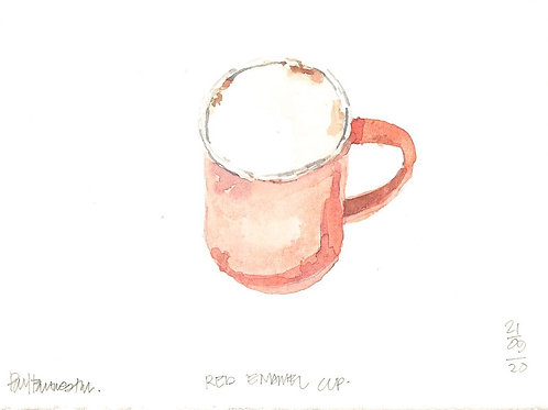 Red Enamel Cup