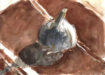 Garlic on Tea Towl