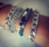 #chains #bracelet #silver #gemstonesjewe