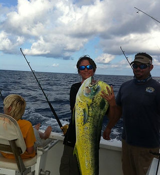 Mahi Mahi caught deep sea fishing off South Padre Island.