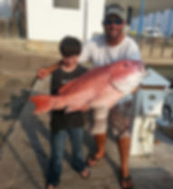 red snapper caught in the offshore waters of South Padre Islalnd