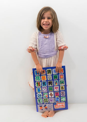 The girl with the Advent Calendar