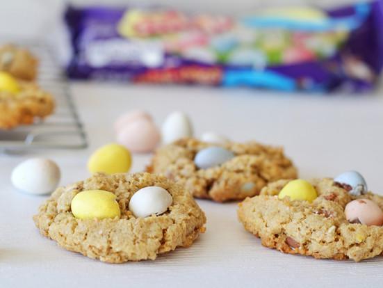 Cadbury Egg Oatmeal Cookies