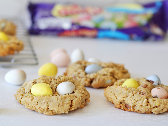 Cadbury Egg Oatmeal Cookies