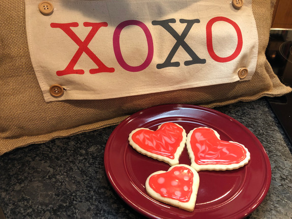 Valentines Day Sugar Cookies