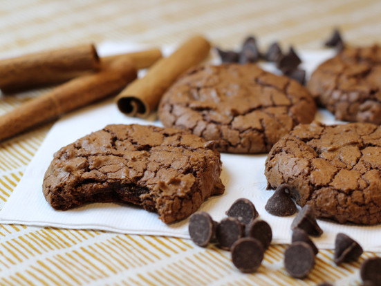 Mexican Chocolate Crackle Cookies