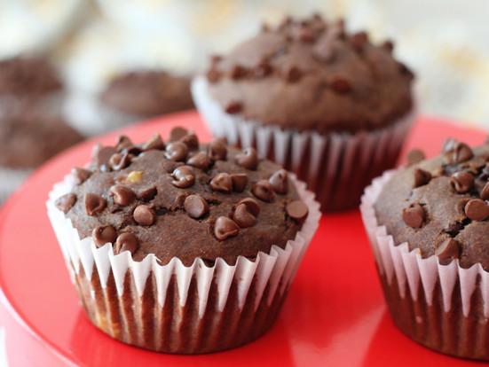 Healthy Banana Chocolate Muffins