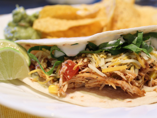 Slow Cooker Lime Chicken Tacos