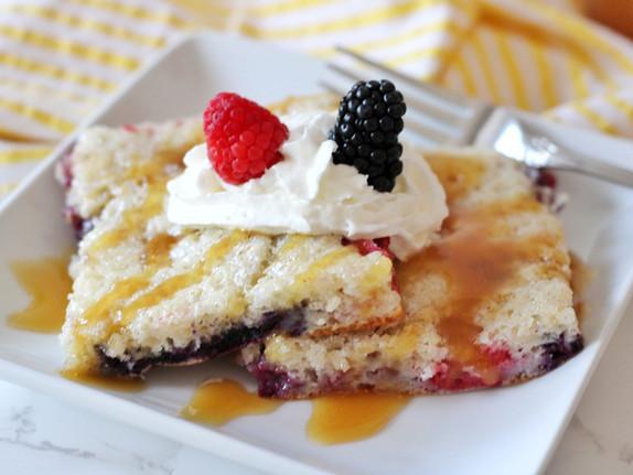 Buttermilk Berry Sheet Pancakes