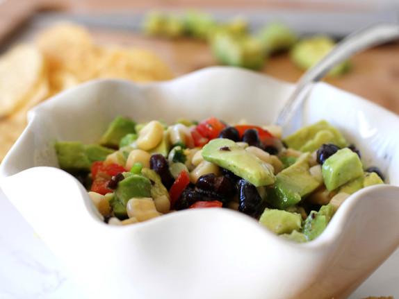 White Corn and Avocado Salsa