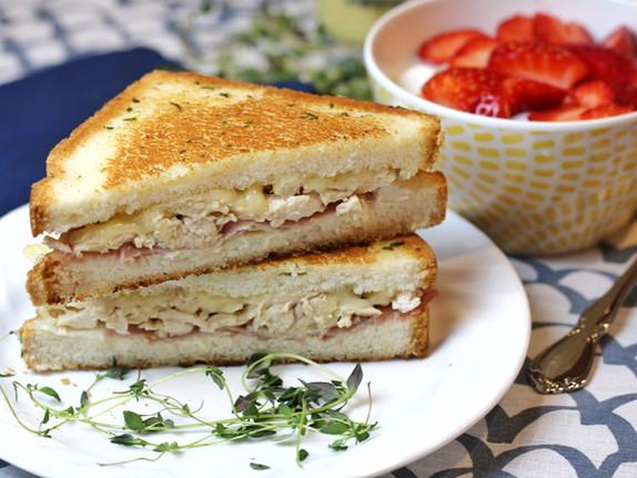 Chicken Cordon Bleu Grilled Sandwiches
