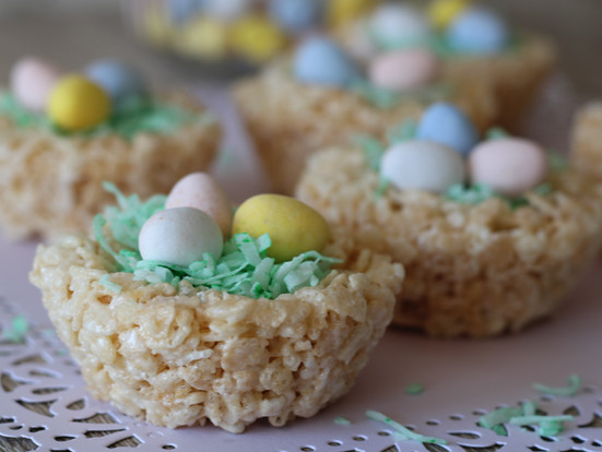 Rice Crispy Nests and Easter Baskets