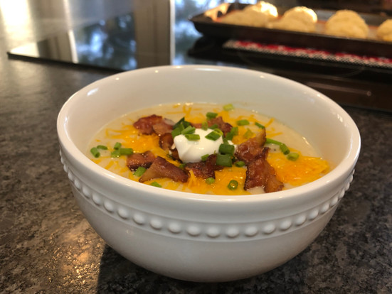 Baked Potato Soup (Made in the Slow Cooker)