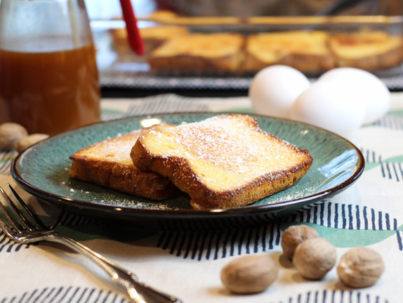 Overnight Eggnog French Toast