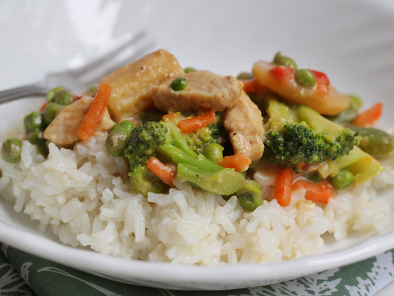 Satay Chicken and Vegetable Stir-Fry