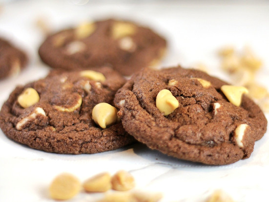 Chocolate Peanut Butter and White Chip Cookies