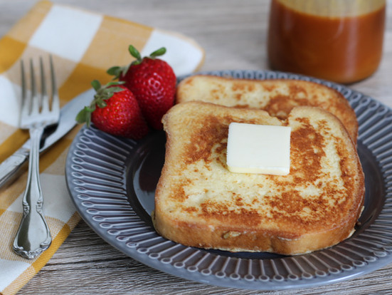 Easy French Toast with Buttermilk Caramel Syrup