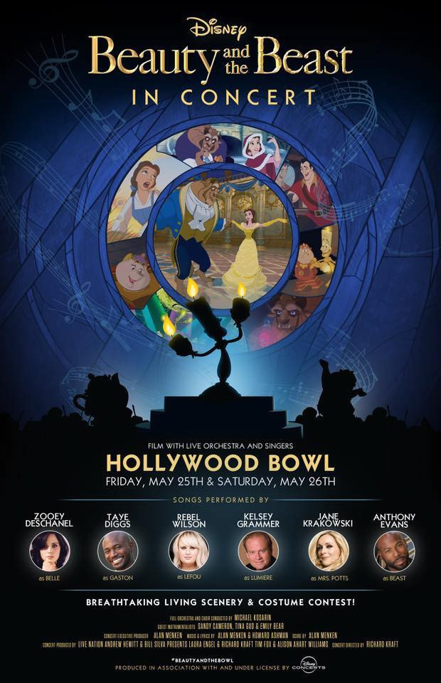 Just Announced!! Beauty and the Beast at the Hollywood Bowl!!
