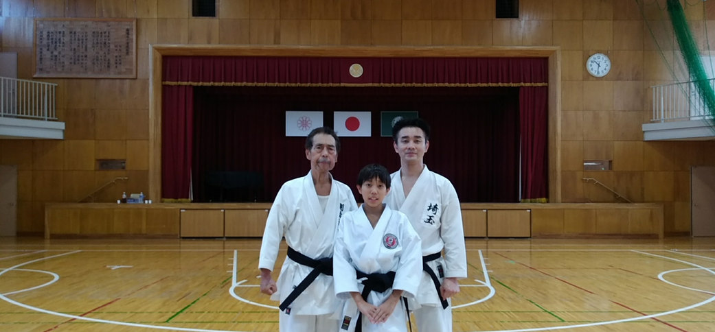Three generations of karate