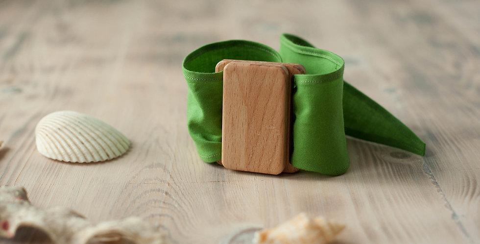 платок для палитры. Зелёный