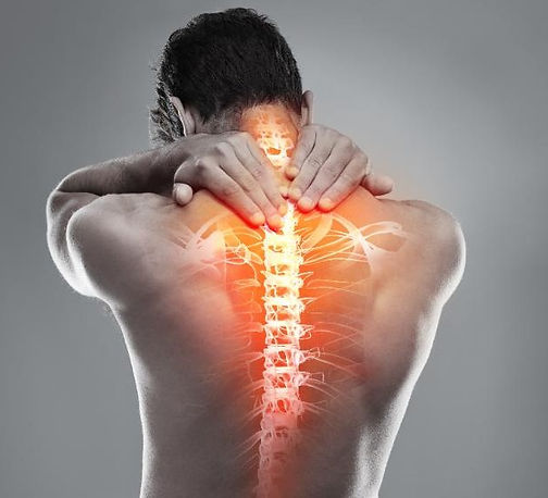 Rückentherapie, Rückenschmerzen,Wirbelsäule, Neuralgie