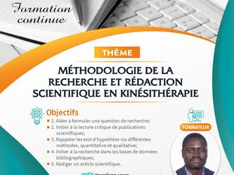 Formation en Méthodologie de la Recherche et Rédaction Scientifique en Kinésithérapie