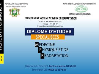 Diplôme d'Etudes Spécialisées (DES-MPR)