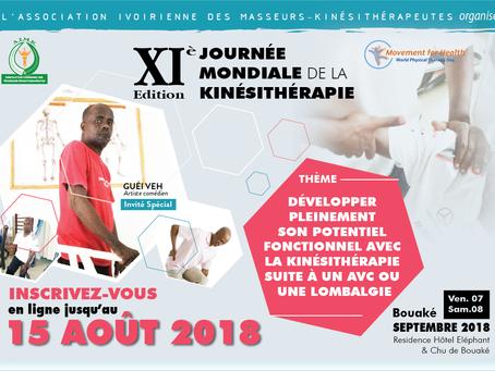 Journée Mondiale de la Kinésithérapie 2018