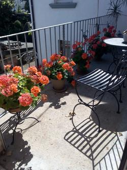 Blühender Balkon