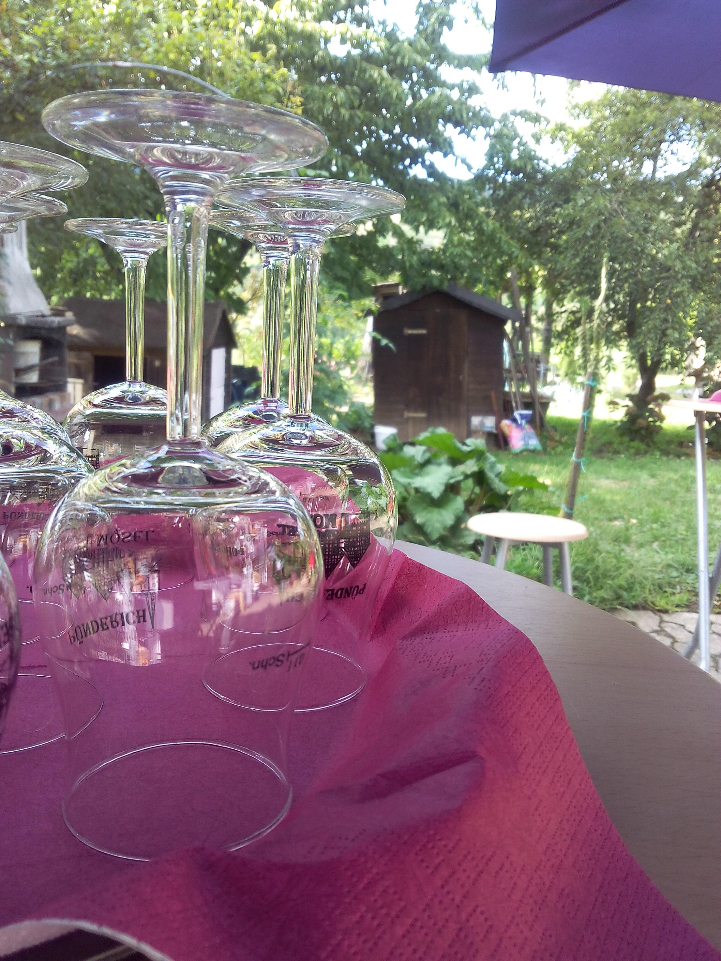 Weinprobe im Hof