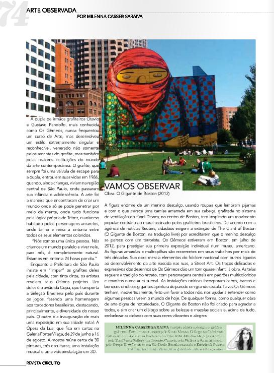 Coluna Arte Observada - 8/2014