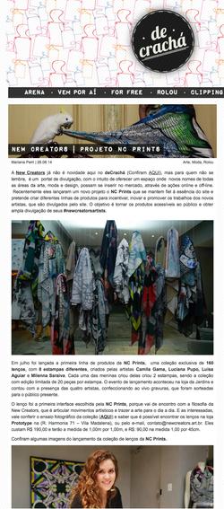 NC Prints na De Crachá - Agosto 2014