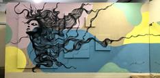 Mural created for Destak Hair Salon, 2020